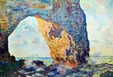 Claude Monet The Rocky Cliffs of Etretat La Porte Man Art Print Poster Masterprint