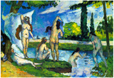 Paul Cezanne Bathers 4 Art Print Poster Photo