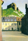 Felix Vallotton Town Square in Andlys Art Print Poster Masterprint