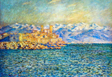 Claude Monet The Old Fort in Antibes Art Print Poster Masterprint