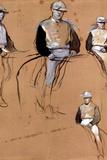 Edgar Degas Study with Four Jockeys Art Print Poster Masterprint