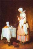 Jean Chardin The Caring Maid Art Print Poster Masterprint