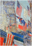 Childe Hassam Day of Allied Victory 1917 Art Print Poster Prints