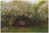 Claude Monet Repos Sous les Lilas 1872 Art Print Poster Poster