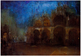 James Whistler Nocturne Blue and Gold Saint Marks Venice Art Print Poster Plakater