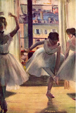 Edgar Germain Hilaire Degas (Three dancers in a practice room) Art Poster Print Masterprint