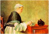 Jean Chardin Tea Drinker Art Print Poster Posters