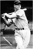 Lou Gehrig Swinging Bat Archival Photo Sports Poster Print Posters