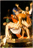 Michelangelo Caravaggio Christ's Burial Art Print Poster Posters