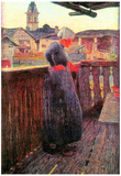 Giovanni Segantini On the Balcony Art Print Poster Posters