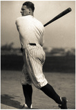 Lou Gehrig with Bat Archival Sports Photo Poster Print Posters