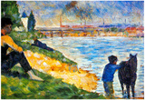 Georges Seurat A Swimming Pool in Asnieres, Study Art Print Poster Prints