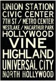 Los Angeles Metro Rail Stations Vintage Subway RetroMetro Travel Poster Posters
