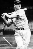 Lou Gehrig Swinging Bat Archival Photo Sports Poster Print Masterprint