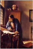 Johannes Vermeer The Geographer Art Print Poster Print