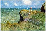 Claude Monet Walk on the Cliffs Art Print Poster Posters