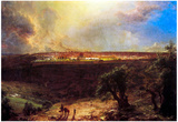 Frederick Edwin Church Jerusalem from the Mount of Olives Art Print Poster Posters
