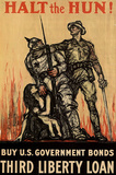 Halt the Hun Buy US Government Bonds Third Liberty Loan War Propaganda Art Print Poster Masterprint