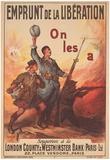 Emprunt de la Liberation War Bonds WWII War Propaganda Art Print Poster Posters