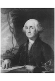 George Washington (Portrait, Black and White) Art Poster Print Prints