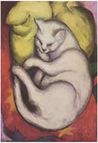 Franz Marc (Cat on a yellow cushion) Art Poster Print Posters