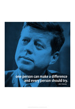 John F. Kennedy Make A Difference iNspire 2 Quote Poster Photo