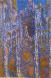 Claude Monet (Rouen Cathedral (The Portal in the morning sun, Harmony in Blue)) Art Poster Print Posters