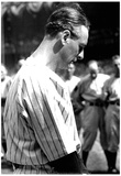 Lou Gehrig Moment of Silence Archival Photo Sports Poster Print Posters