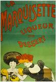 La Marquisette Liquer De Dessert Vintage Ad Poster Print Posters