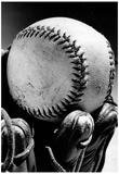 Baseball Glove Archival Photo Sports Poster Print Reprodukcje