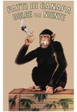 Fatti Di Canapa (Dolce Far Niente, Smoking Monkey) Art Poster Print Plakater