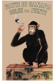 Fatti Di Canapa (Dolce Far Niente, Smoking Monkey) Art Poster Print Prints