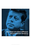 John F. Kennedy Make A Difference iNspire 2 Quote Poster Masterprint