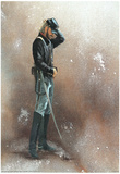 Civil War Soldier Blue Union America Art Print POSTER Posters