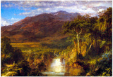 Frederick Edwin Church Heart Of The Andes Art Print Poster Posters