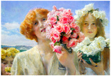 Lawrence Alma-Tadema A Summer Offering Art Print Poster Print