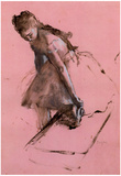 Edgar Degas Dancer Slipping on her Shoe Art Print Poster Prints
