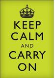 Keep Calm and Carry On (Motivational, Light Green) Art Poster Print Masterprint