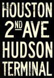 New York City Houston Hudson Vintage Subway RetroMetro Poster Masterprint