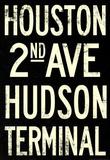 New York City Houston Hudson Vintage Subway RetroMetro Poster Masterprint