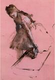 Edgar Degas Dancer Slipping on her Shoe Art Print Poster Masterprint