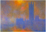 Claude Monet Houses of Parliament Art Print Poster Prints