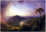 Frederick Edwin Church The Valley of St. Thomas Jamaica Art Print Poster Posters