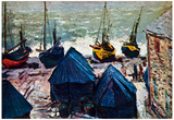Claude Monet The Boats Art Print Poster Poster