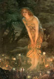 Edward Robert Hughes Midsummer Eve Colorful Art Print Poster Masterprint