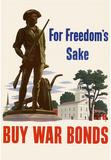 For Freedom's Sake Buy War Bonds WWII War Propaganda Art Print Poster Masterprint