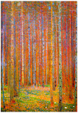 Gustav Klimt Tannenwald I Art Print Poster - Resim