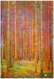 Gustav Klimt Tannenwald I Art Print Poster Poster