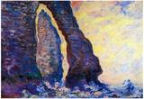 Claude Monet La Porte d'Aval and the Needle at Etretat Art Print Poster Photo