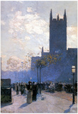 Childe Hassam Lower Fifth Avenue Art Print Poster Prints